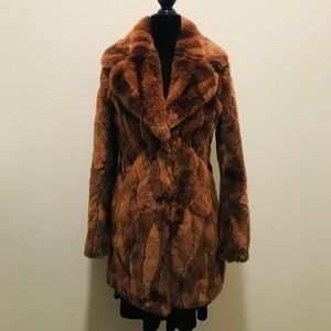 Abercrombie and Fitch faux fur coat, size x-small